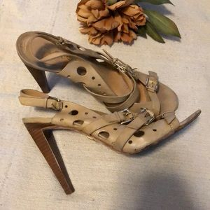 L.A.M.B. Nude strappy  heels